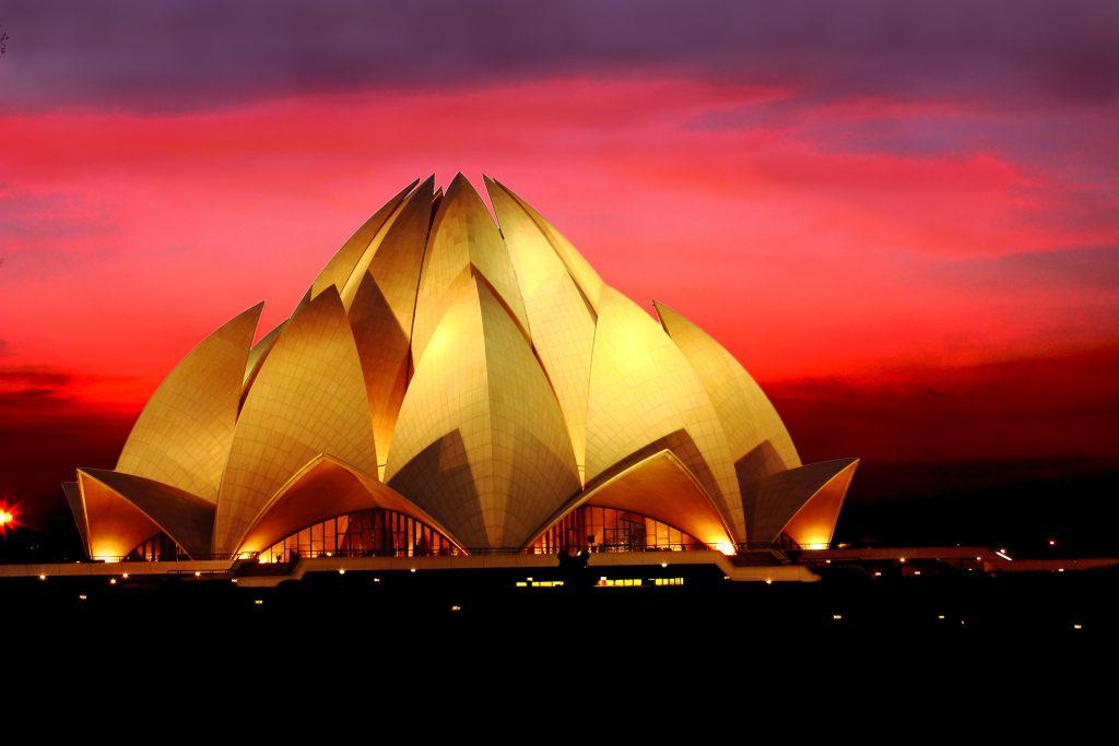 Lotus Temple in New Delhi, India