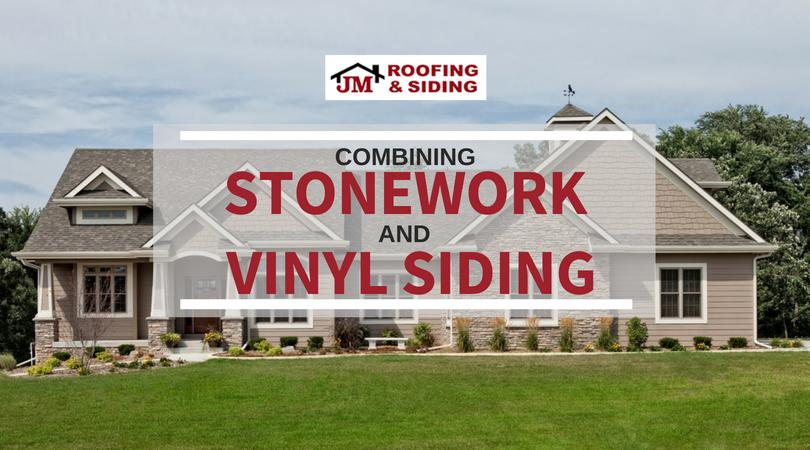 combining stonework and vinyl siding