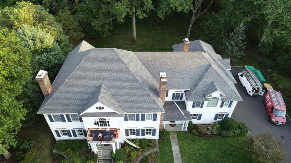 A roof by JM Roofing